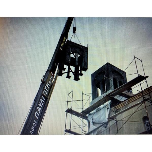 Ανέγερση Εκκλησιας στο Ακραίφνιο Βοιωτίας
